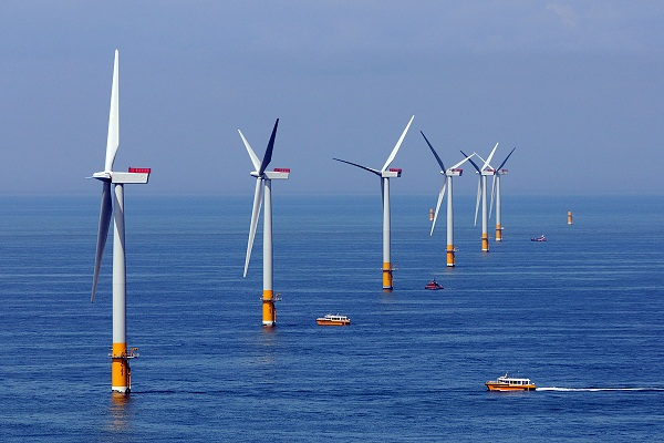 Greater Gabbard wind farm, off Suffolk, England (image via SSE)