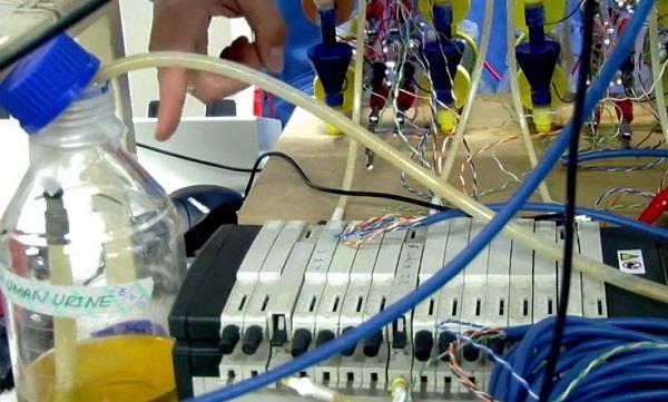 The lab setup (image from Bristol Robotics Laboratory video)