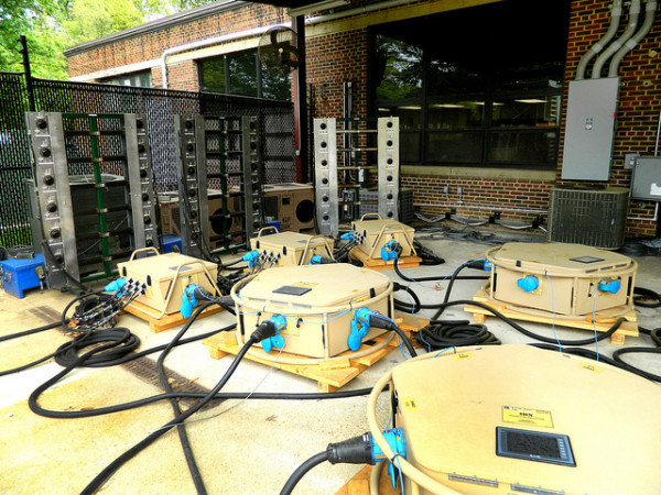 U.S. Army engineers are leading research on tactical microgrids to deliver more efficient power to Soldiers across combat zones. These microgrids are designed and built to provide power independently of traditional grids and to integrate multiple sources of energy for use and storage. (image via US Army RDECOM)