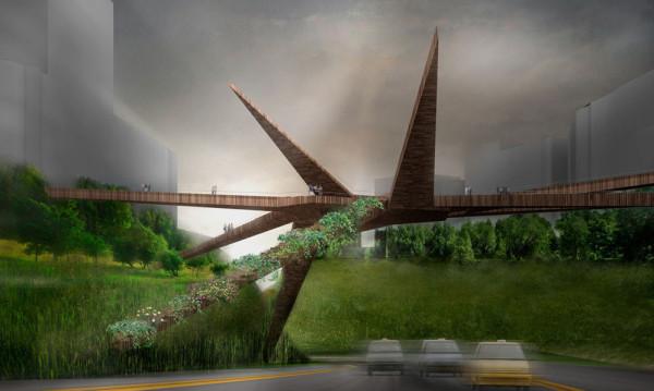 Lima Recycled Pedestrian Bridge 1