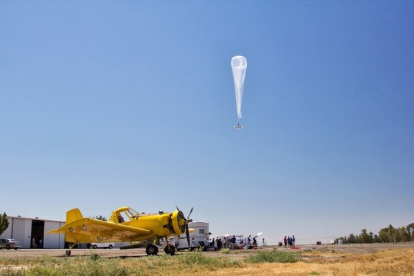 Project Loon California Central Valley