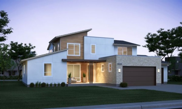 Zero home is the most energy efficient house in america Modern homes in utah