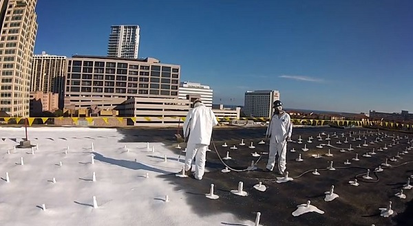 foamed in solar racking system