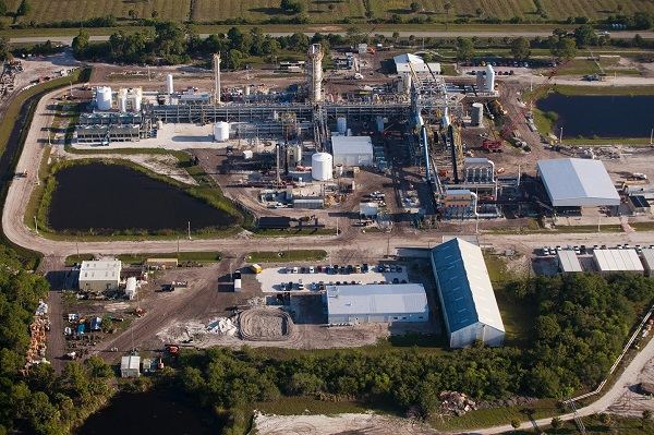Ineos Florida plant during construction (image via Ineos Bio)