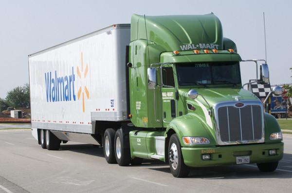 walmart green supply truck