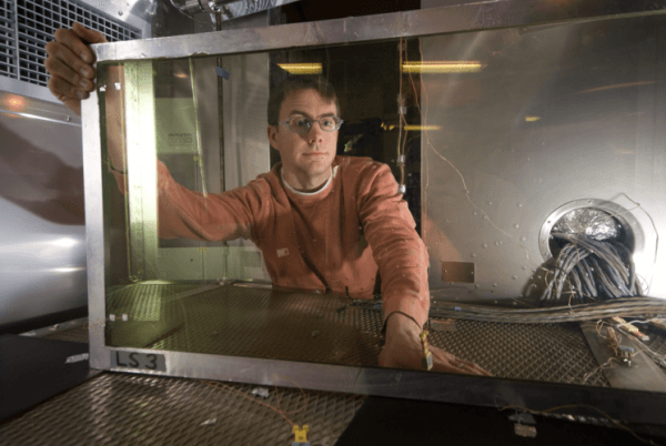 Researchers at the Energy Department's National Renewable Energy Laboratory are developing innovative new window technology that helps improve occupants' comfort and cuts energy use. | Photo courtesy of Pat Corkery, NREL