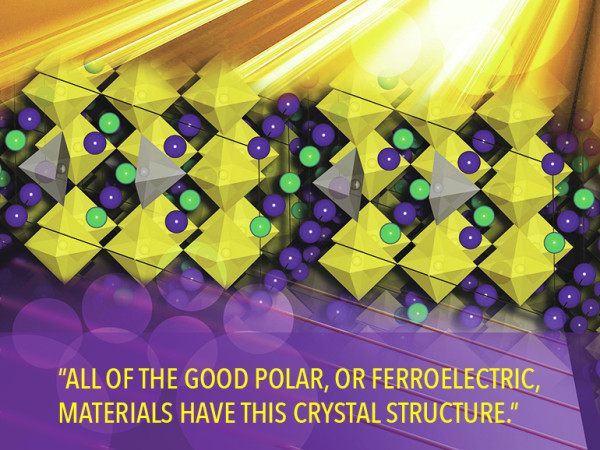 An illustration of the perovskite crystal fabricated in the experiment. (image credit: Felice Macera)