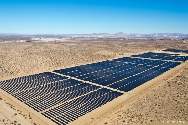 The Victor Phelan plant (22 MW DC, 20 MW AC) in Southern California. (image via Recurrent Energy)