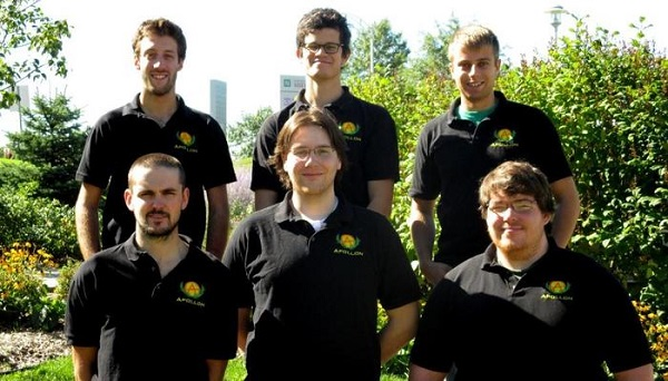 The team – first row: Laurent Bélisle-Chabot, Kane Thomas, Gilbert Larochelle Martin; second row: Sébastien Désilets, Frédéric Coulombe, Jean-Francois Langford. (image via Kickstarter)