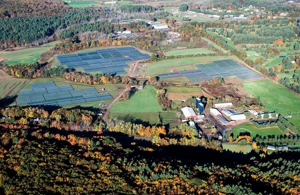 The equivalent of one new 5 MW solar farm is being installed every hour of the day – and here's a brand new 5 MW array in Connecticut. (image via Dominion)
