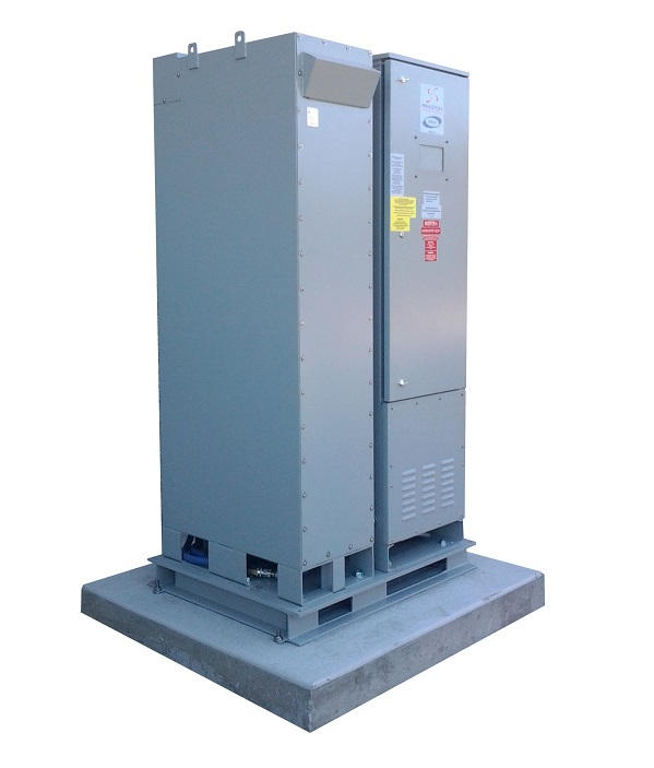 The DemandLogic storage/inverter system (image via SolarCity)