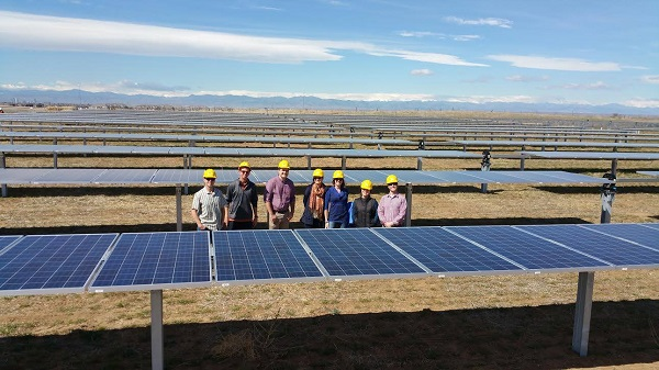 A community solar project taking shape in Colorado this spring. Image via SunShare.