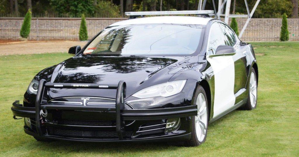 Tesla Model S Police Car