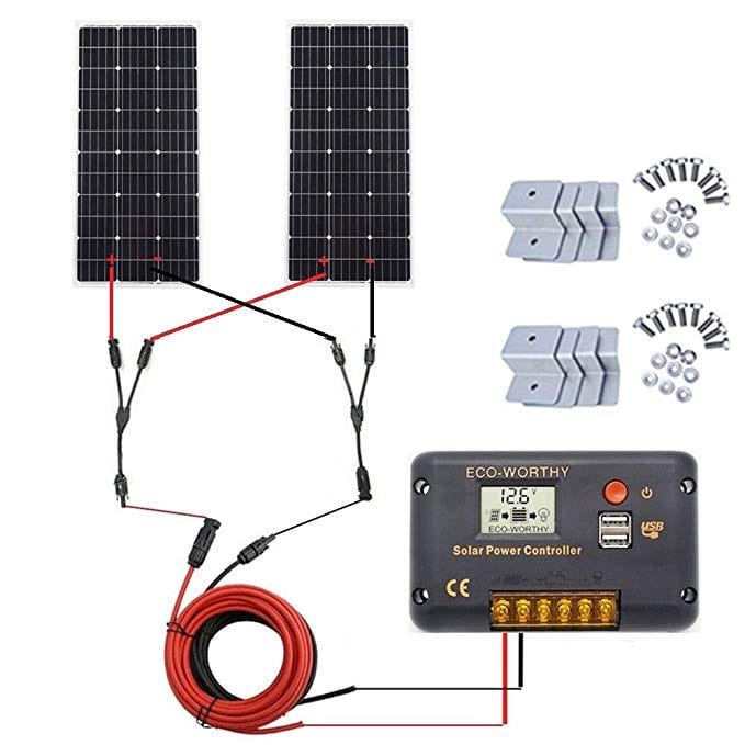 Eco-Worthy 200 W Monocrystalline Solar Panel Kit