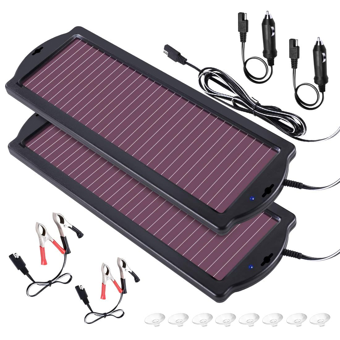 POWOXI 1.8 W Solar Battery Charger