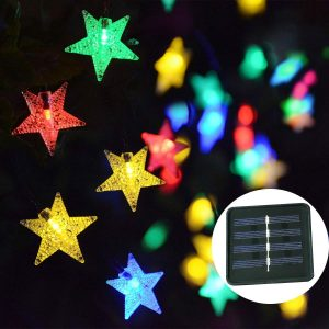 Windpnn Solar Star String Lights