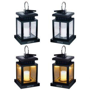 ANDEFINE Hanging Solar Lantern 4-Pack