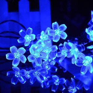 VMANOO Flower Blossom Solar Christmas String Lights