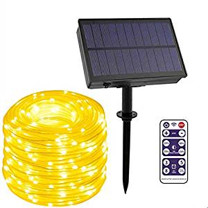 LEOHOME Outdoor Solar String Lights with Timer