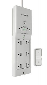 Belkin 8-Outlet Conserve Switch Surge Protector with 4-Foot Cord and Remote