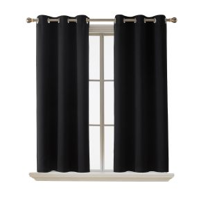 Deconovo Room-Darkening Thermal-Insulated Blackout Grommet Window Curtain