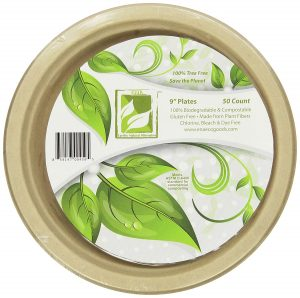 Earth's Natural Compostable Plant Fiber 9-Inch Plates