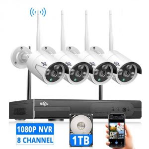 Hiseeu Expandable Eight-Channel Wireless Security Camera System