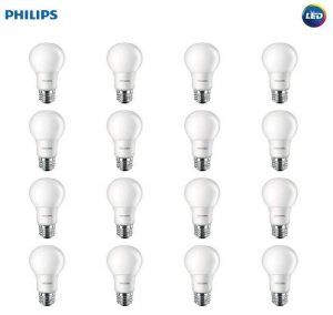 Philips LED Non-Dimmable A19 Frosted Light Bulbs