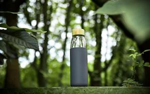 Veegoal Glass Water Bottle