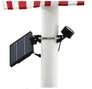 Mini 120X Solar Powered Flag Pole Light