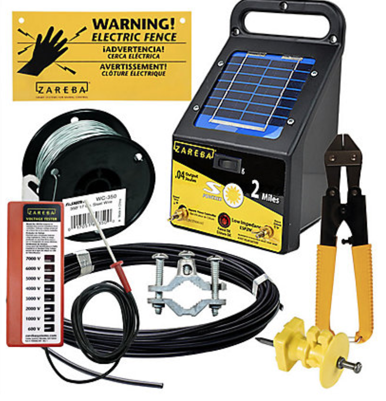 Zareba Deluxe Solar Garden Protection Kit