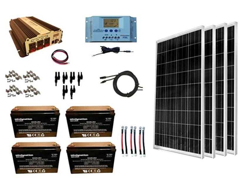 WindyNation 400W Solar Power Kit
