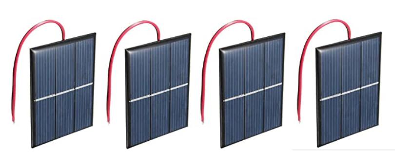 AMX3d 1.5V Solar Panel 4-Pack