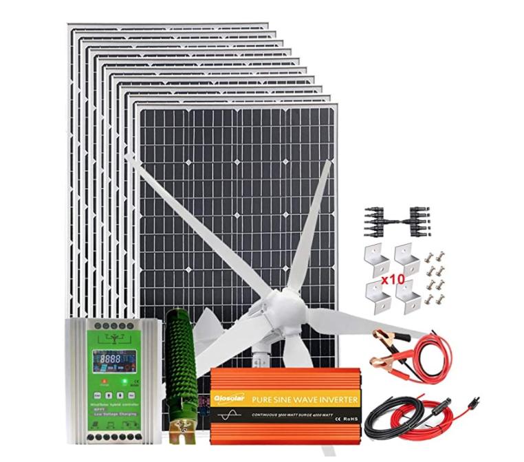 Giosolar Solar and Wind Off Grid Power System