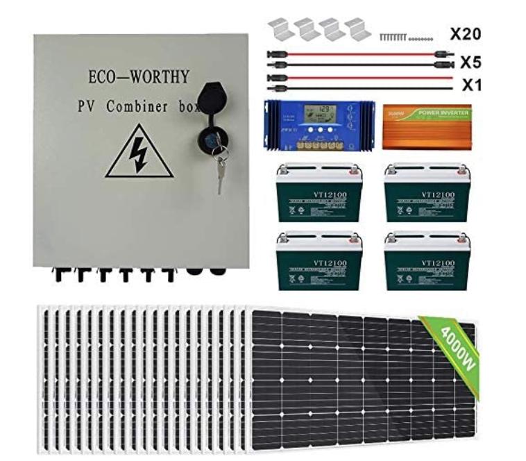 ECO-WORTHY 3900W Off Grid Solar System