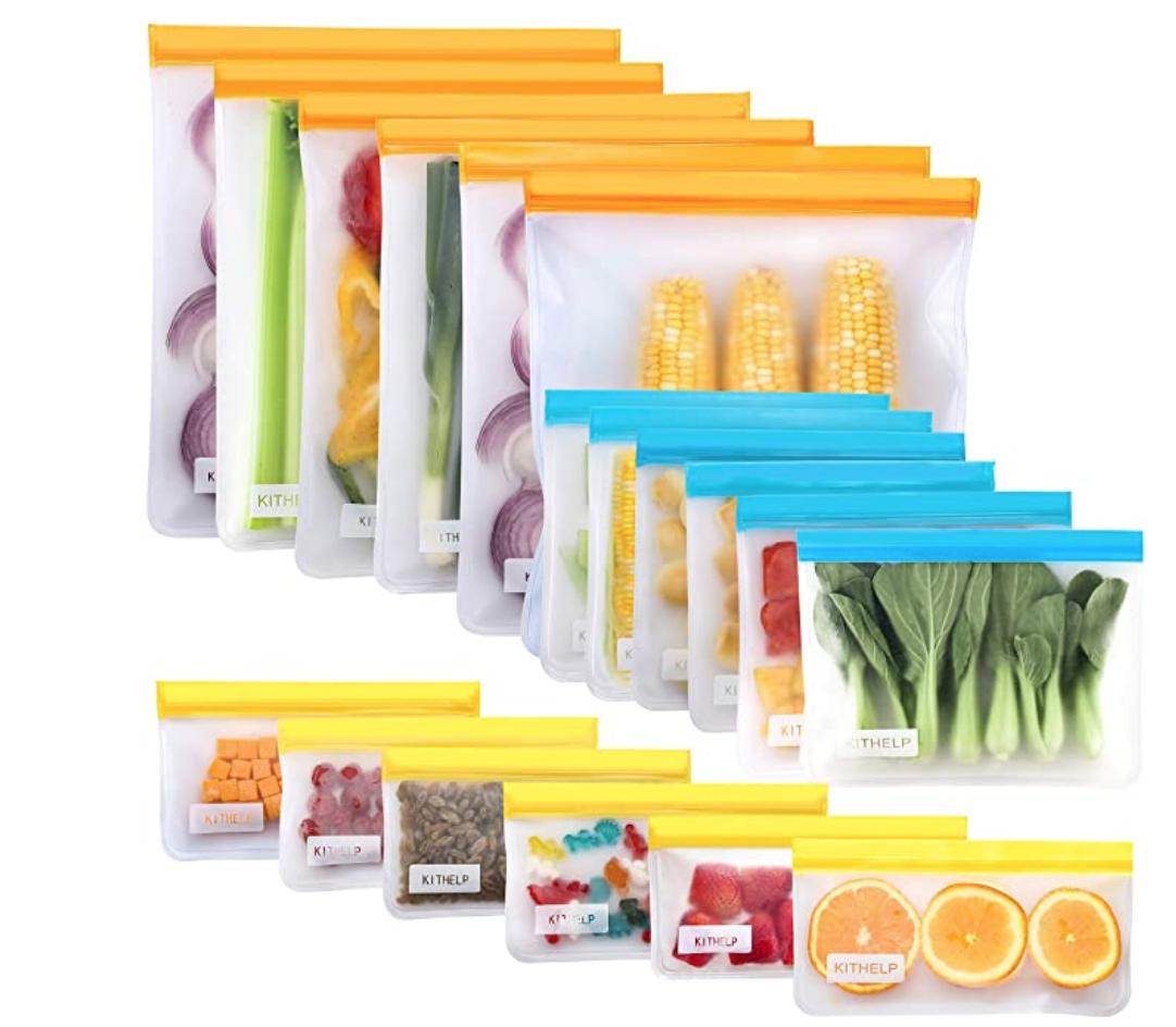 KITHELP Reusable Food Storage Bags